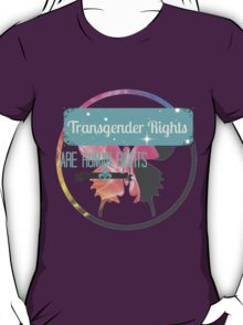 Transgender Rights Are Human Rights - Blue T-Shirt