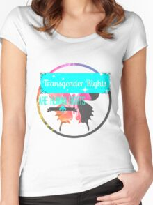 Transgender Rights Are Human Rights - Blue Women's Fitted Scoop T-Shirt