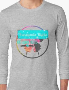 Transgender Rights Are Human Rights - Blue Long Sleeve T-Shirt