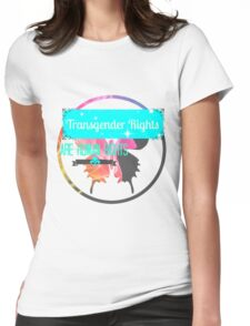 Transgender Rights Are Human Rights - Blue Womens Fitted T-Shirt