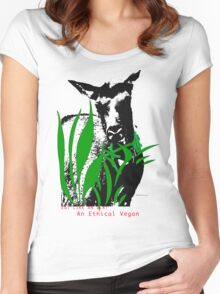 I am A Ethical Vegan actually all Elk are Women's Fitted Scoop T-Shirt