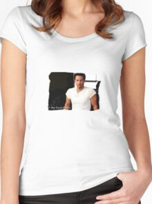 My Kind Of Man (Keanu Reeves Portrait) Women's Fitted Scoop T-Shirt