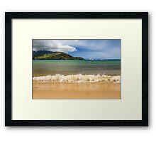 The Surf At Hanalei Bay Framed Print