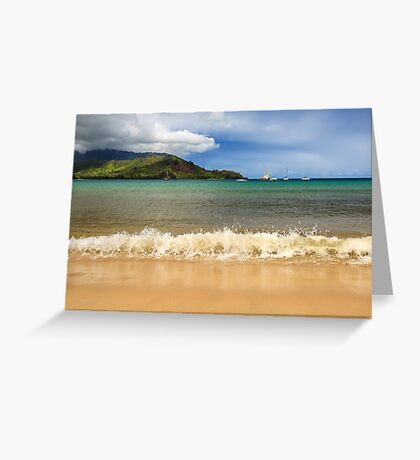 The Surf At Hanalei Bay Greeting Card