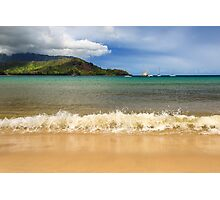 The Surf At Hanalei Bay Photographic Print