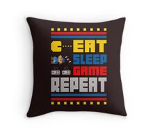 Eat. Sleep. Game. Repeat. Throw Pillow