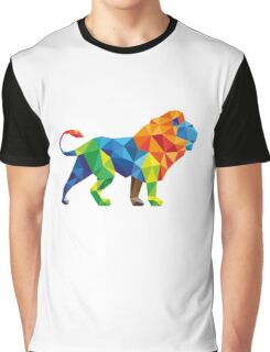 Lovely Colourful Animated Vector Lion For Animals lovers Graphic T-Shirt
