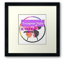 Transgender Rights Are Human Rights - Purple Framed Print
