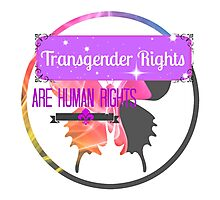 Transgender Rights Are Human Rights - Purple Photographic Print