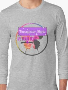 Transgender Rights Are Human Rights - Purple Long Sleeve T-Shirt