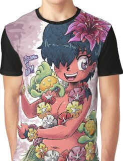 Girl With Hula Critters Graphic T-Shirt