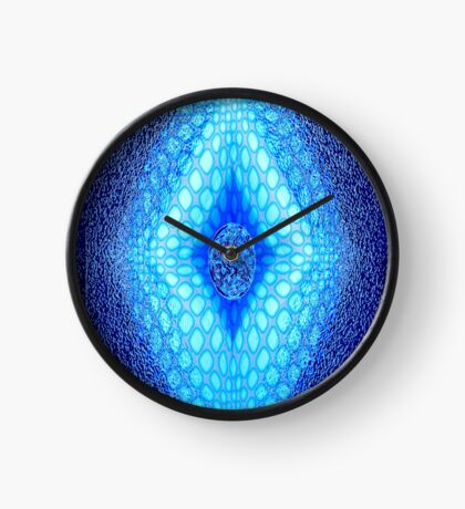 Mosaic in Blue Clock