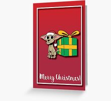 Chihuahua Cartoon Christmas Card Greeting Card