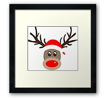 Rudolph the Red Noses Reindeer Framed Print