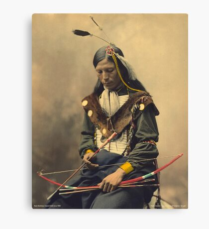 Native American Indian Oglala Sioux Council Chief Canvas Print