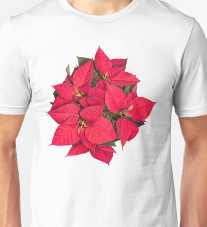 Red Christmas flower Unisex T-Shirt