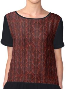 Red Dragonscales Chiffon Top