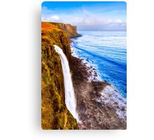 Kilt Rock And Mealt Falls On The Beautiful Isle of Skye Canvas Print