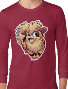 Flame Puppy Woof Long Sleeve T-Shirt