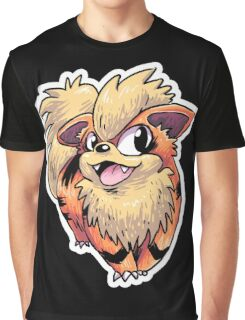 Flame Puppy Woof Graphic T-Shirt