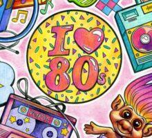 I love the 80s! 80s Love Sticker
