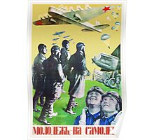 Constructivistic photomontage poster. Authentic Russian avant-garde Poster