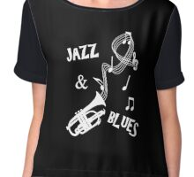 Jazz & Blues Music Themed Cool Graphic Chiffon Top
