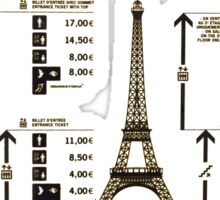 tarif Eiffel  Sticker