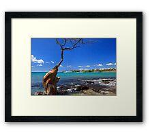 Boats At Anaehoomalu Bay Framed Print