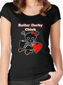 Roller Derby Chick (Red) Women's Fitted Scoop T-Shirt