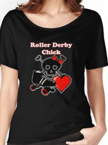 Roller Derby Chick (Red) Women's Relaxed Fit T-Shirt