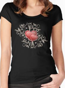 Valentine Decorative T-shirt - Two Hearts, Two Souls Women's Fitted Scoop T-Shirt