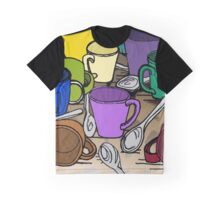 Cups and Spoons Graphic T-Shirt
