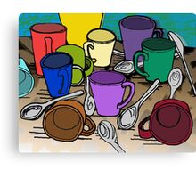 Cups and Spoons Canvas Print