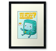 BMO Adventure Time - Who wants to play videogames? Framed Print