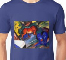 Two Horses - red and blue by Franz Marc Unisex T-Shirt