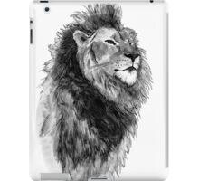 Black and White Hand Drawn Lion Design iPad Case/Skin