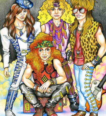 80s hairband - 80s love, 1980s, I love the 80s, hairbands Sticker