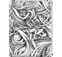 Escher Like Abstract Hand Drawn Graphite Gray Depth iPad Case/Skin