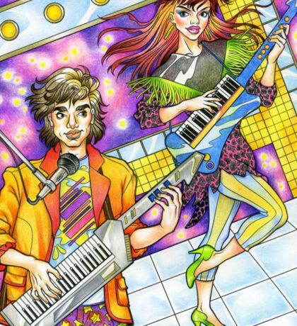 80s Keytar Band! 80s love, 80s, 1980s Sticker