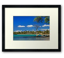 Anaehoomalu Bay Framed Print