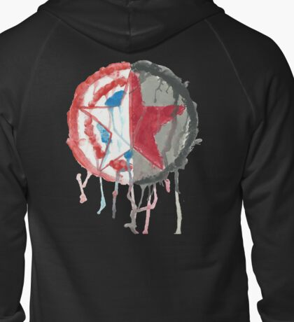Bucky And Cap Zipped Hoodie