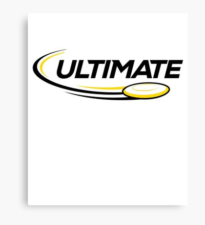 Ultimate Frisbee T-shirt: Frisbee and Disc Golf Shirts Canvas Print