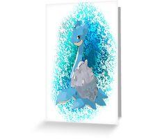 Pokemon Lapras Greeting Card