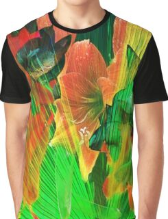 Abstract Amaryllis Graphic T-Shirt