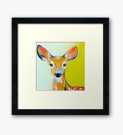 Colourful Deer - Wild Woodland Framed Print