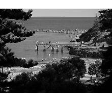 Picnic At Horse Shoe Bay Photographic Print