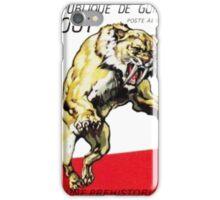Sabre Tooth Smilodon Stamp Print iPhone Case/Skin
