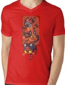 Team Litten Mens V-Neck T-Shirt
