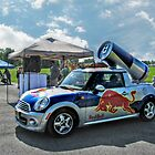 Red Bull Cola campaign car by Jane Neill-Hancock